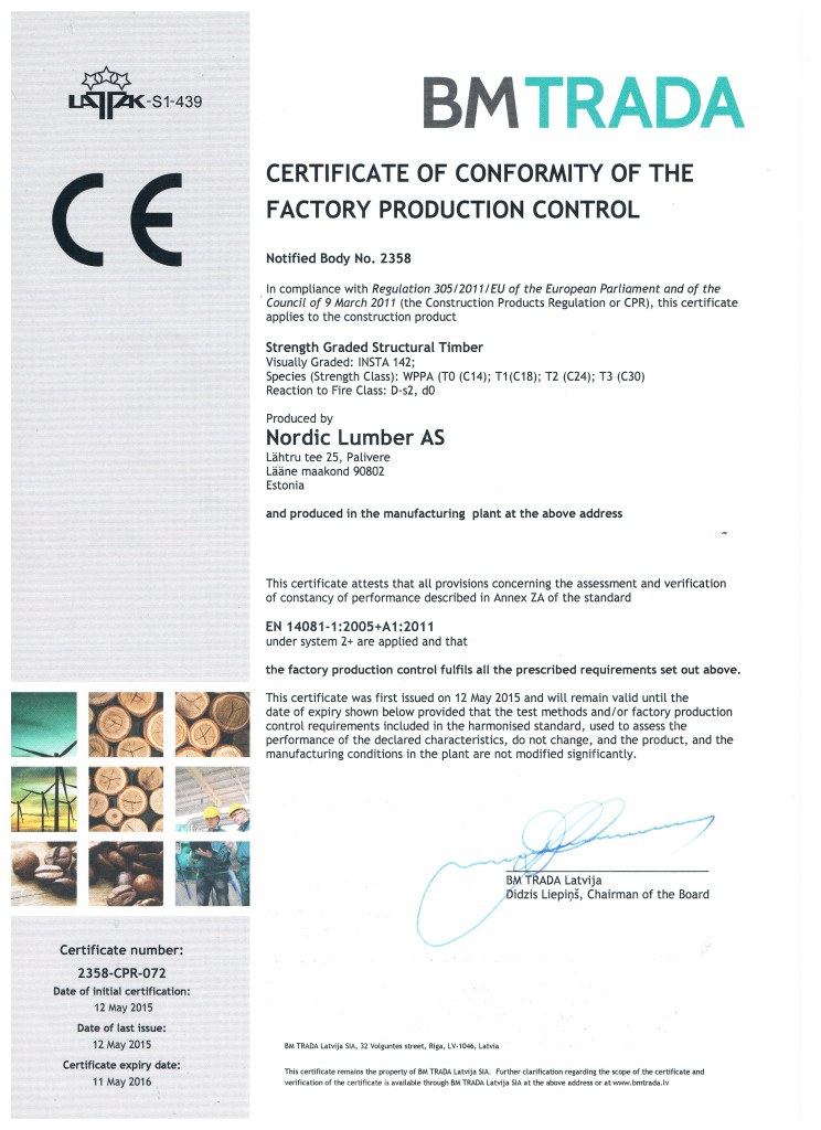 sertifikaat BM trada 2015
