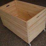 Wooden toy-box